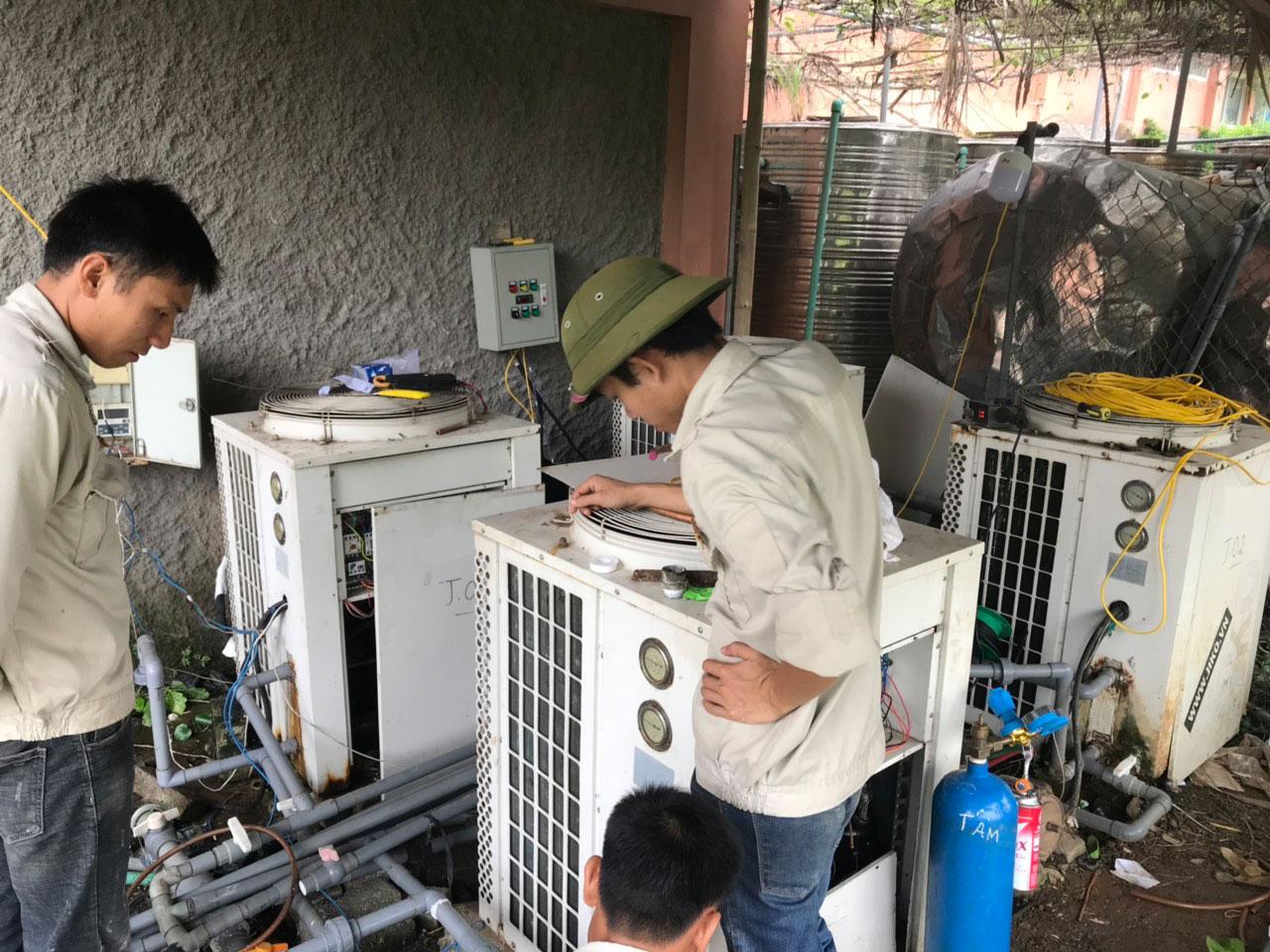 Sửa chữa, bảo trì, lắp đặt máy bơm nhiệt (Heat Pump)