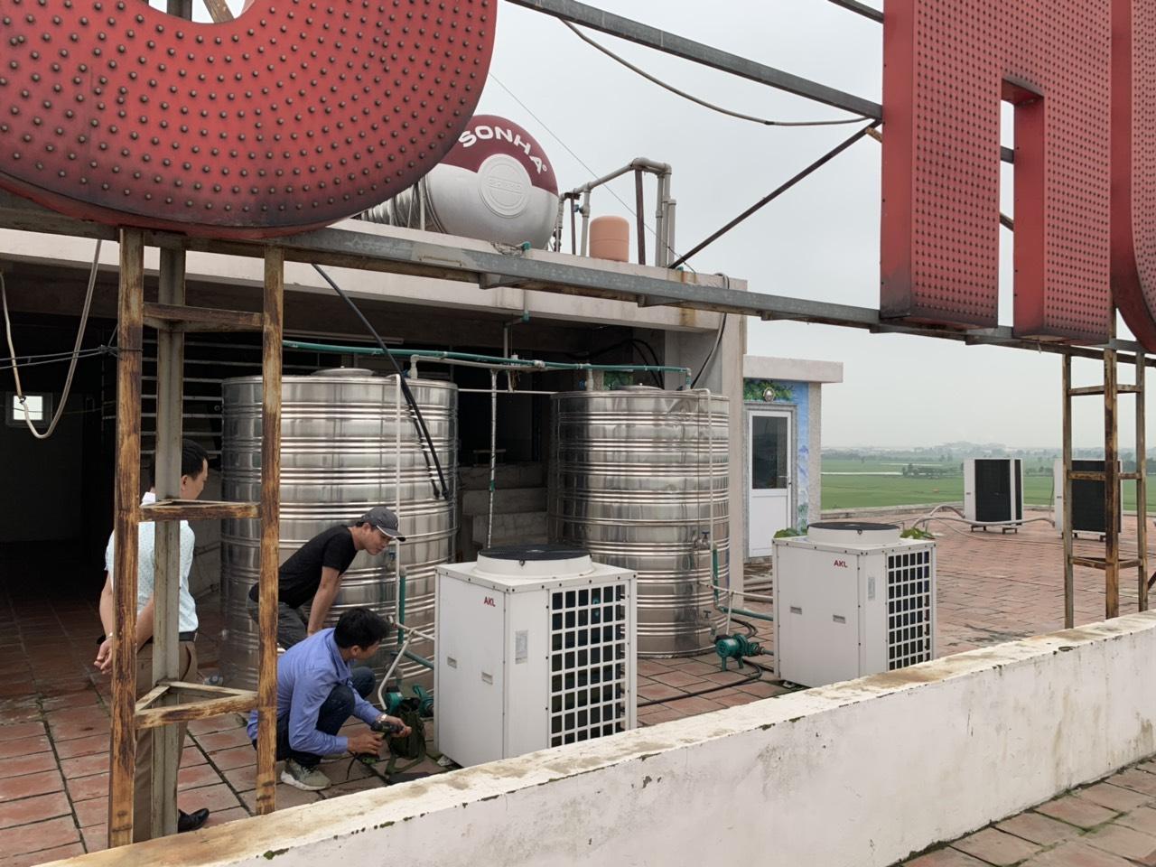 Sửa chữa, bảo trì, lắp đặt Hệ thống nước nóng NLMT kết hợp bơm nhiệt